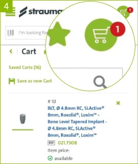 Scan to cart, step 4